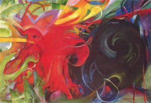 Kampfende Formen (1912), Franz Marc