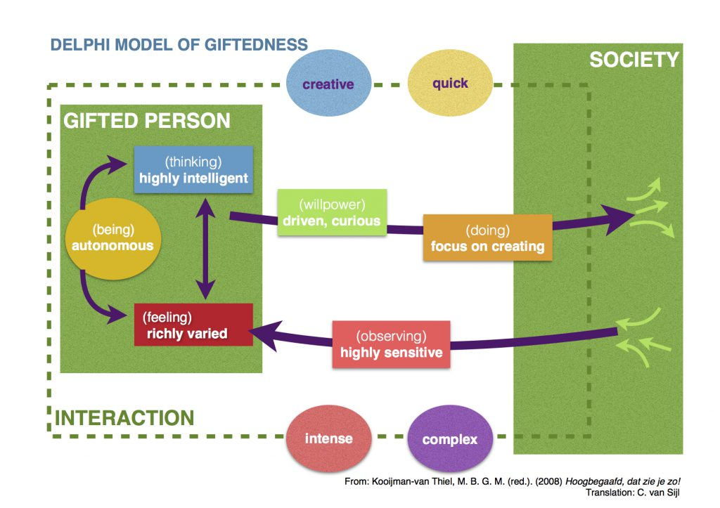 Delp=hi Model of Giftedness (Kooijman-van Tiel, 2008)